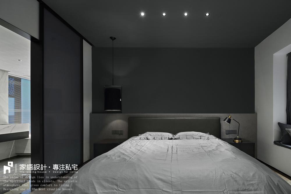 轻奢89平现代三居卧室装修效果图卧室床现代简约卧室设计图片赏析