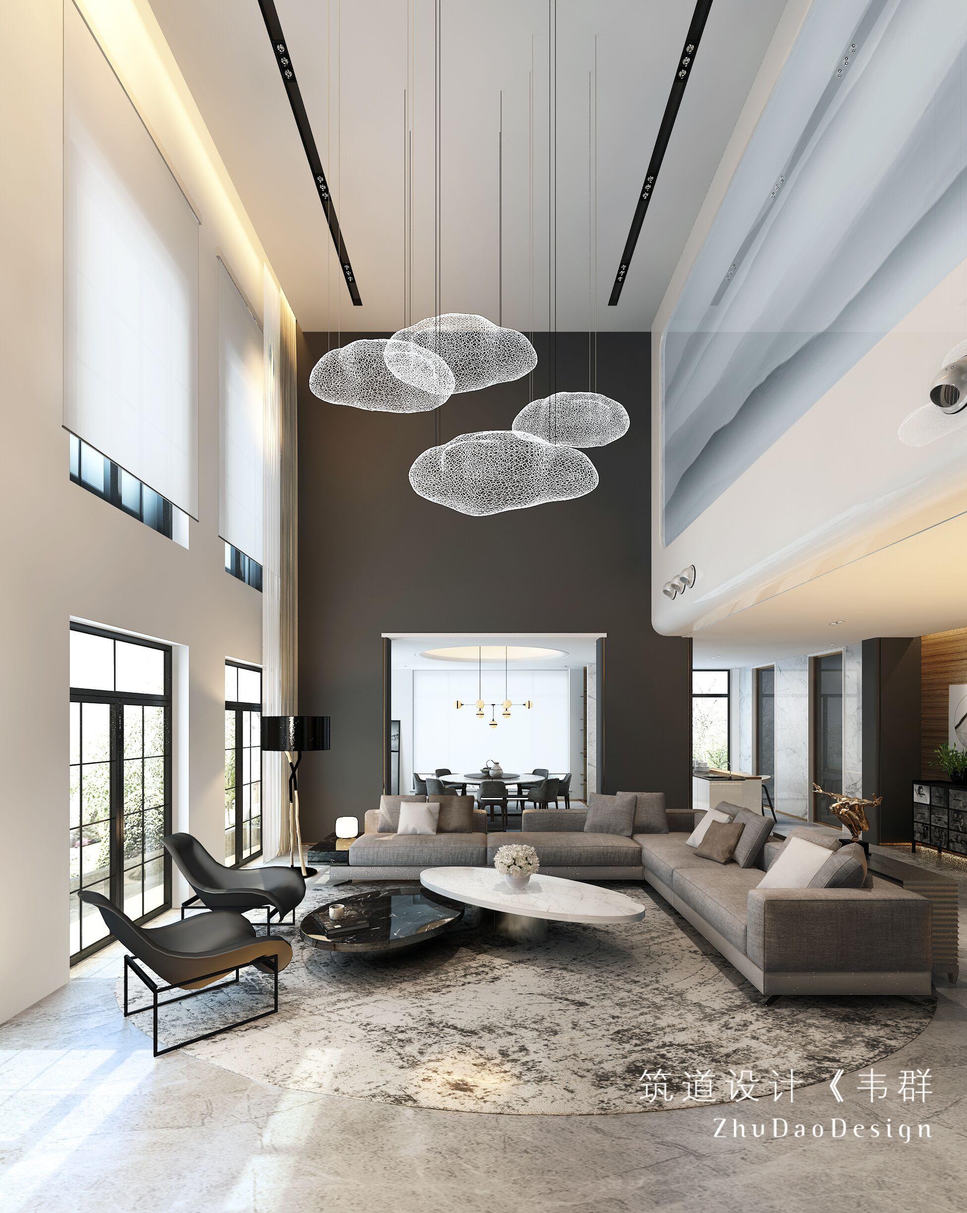 大气800平现代别墅客厅装修装饰图客厅
