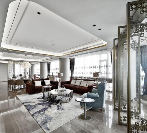 580㎡超大江景房客厅设计图片客厅沙发501-1000m²潮流混搭家装装修案例效果图