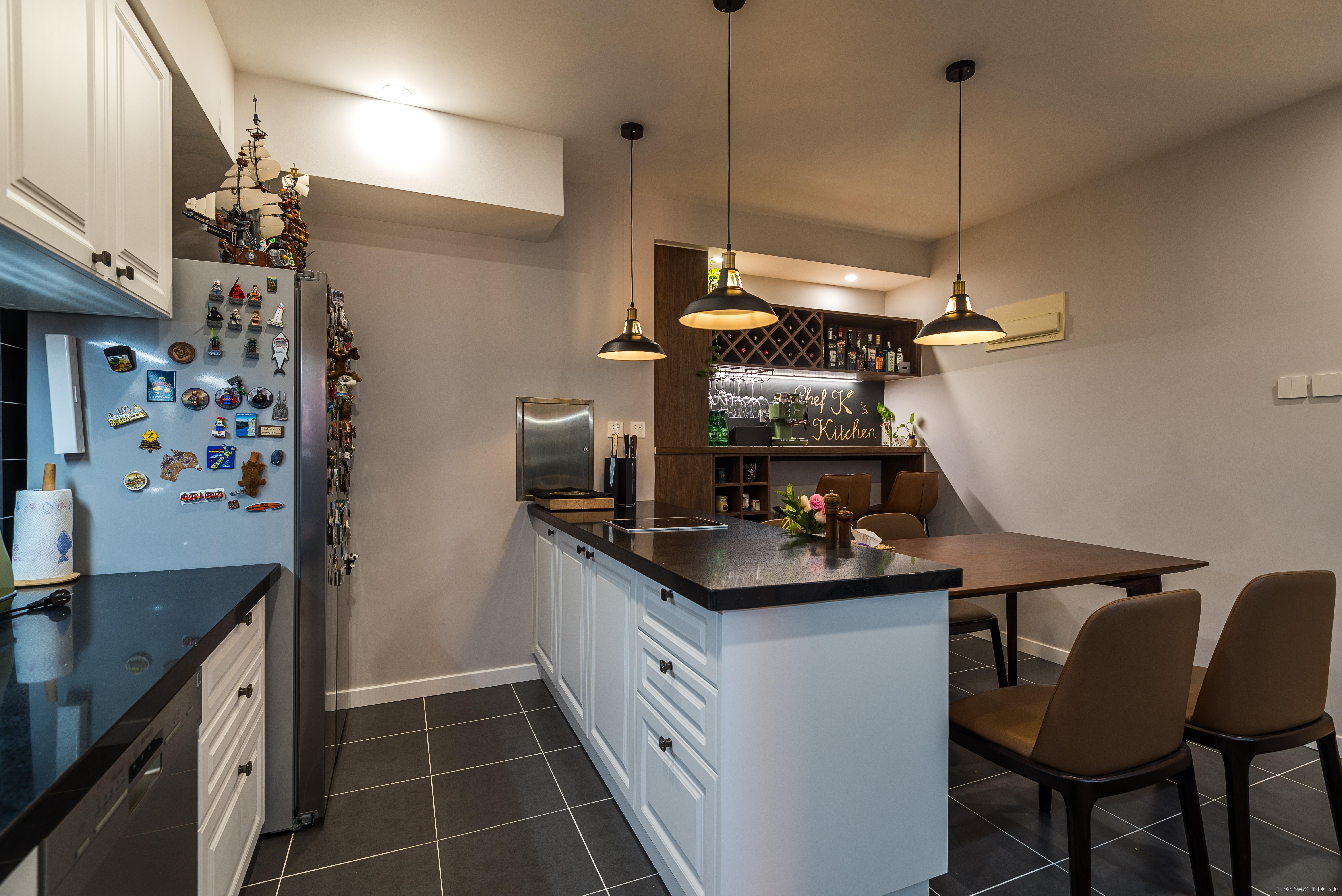 质朴121平现代三居厨房装修图片餐厅现代简约厨房设计图片赏析