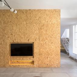 新民居复式客厅背景墙设计