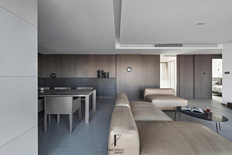 客厅餐厅一体装修设计厨房现代简约餐厅设计图片赏析