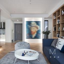 130㎡现代北欧客厅设计图