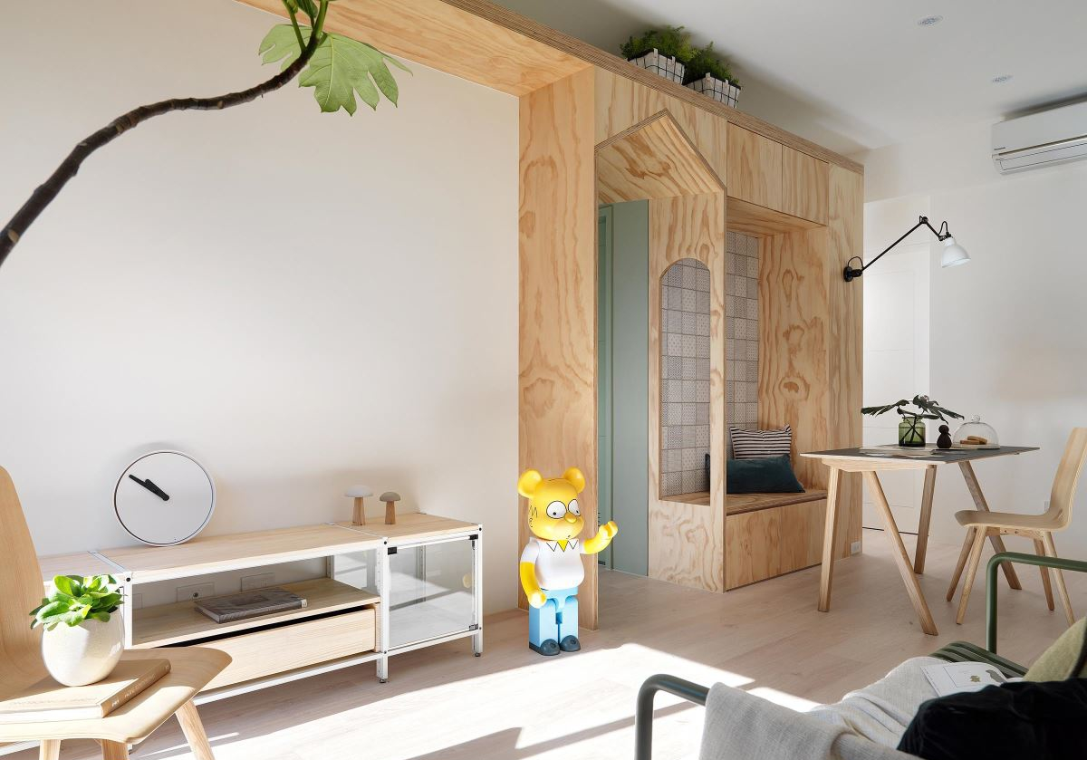 质朴21平北欧小户型客厅效果图客厅2图