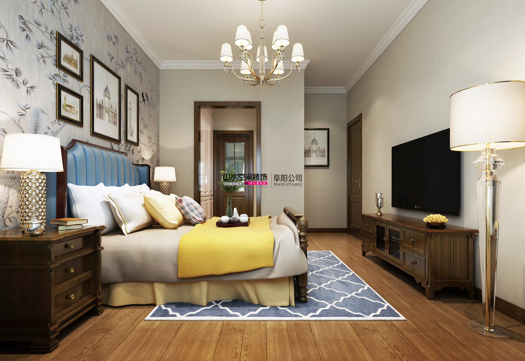 优美88平简约三居卧室装修案例卧室现代简约卧室设计图片赏析