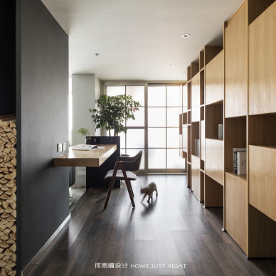 横 ·润现代四居书房设计图