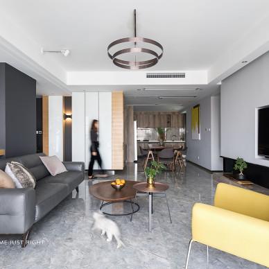 横 ·润现代四居客厅设计图