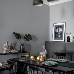 灰黑色北欧风餐厅吊灯图