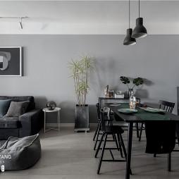 灰黑色北欧风餐厅设计