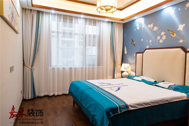 悠雅145平中式四居卧室装饰美图卧室1图中式现代卧室设计图片赏析