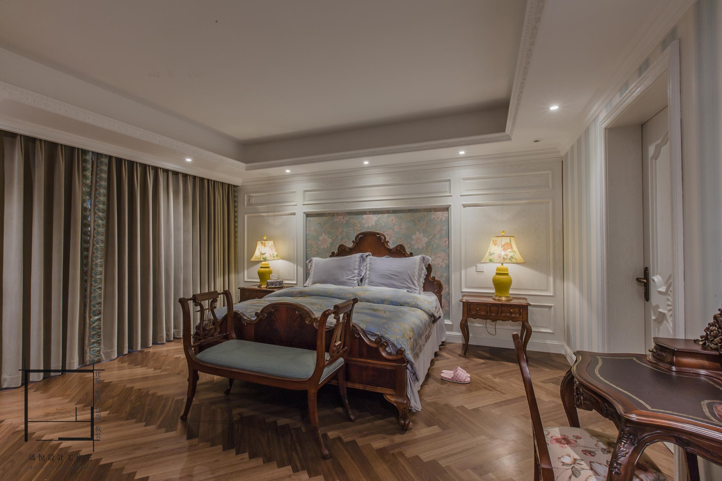 浪漫523平混搭别墅卧室设计效果图卧室窗帘潮流混搭卧室设计图片赏析