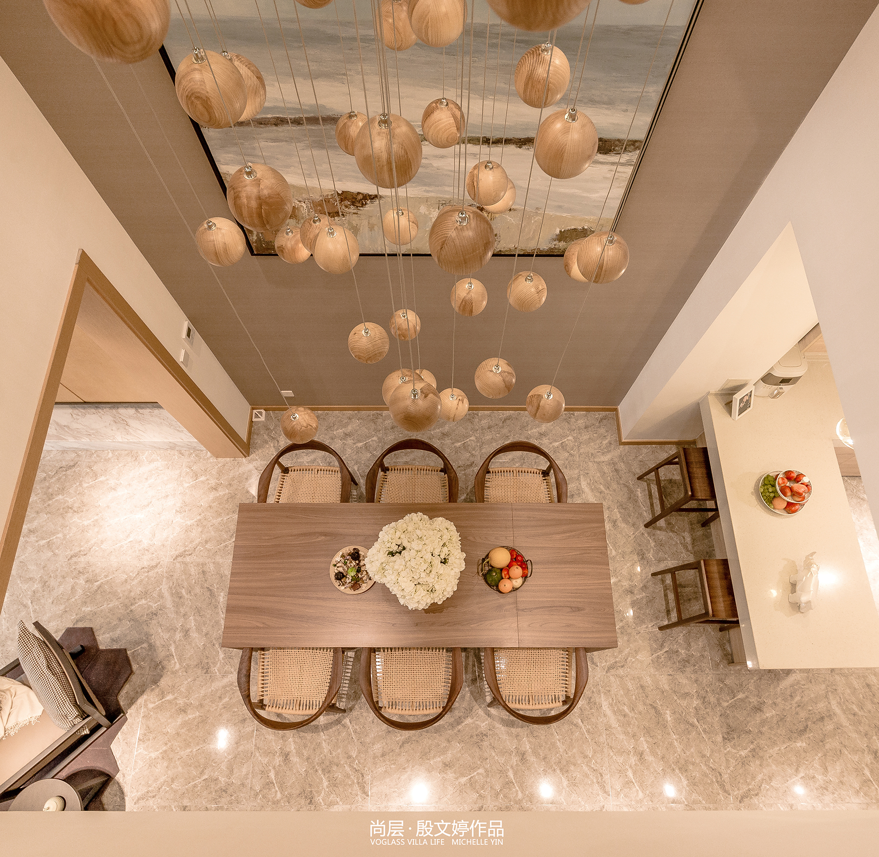 轻奢736平现代别墅餐厅装修设计图厨房现代简约餐厅设计图片赏析
