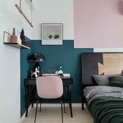 32m2北欧撞色小公寓卧室设计图