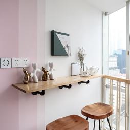 32m²北欧撞色小公寓吧台设计