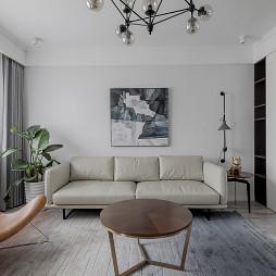 简单北欧风客厅沙发图片