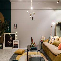 多彩混搭風客廳沙發圖片