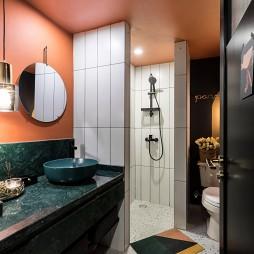 多彩混搭风卫浴洗手台设计图