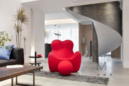 精美208平LOFT复式装饰图片客厅沙发201-500m²潮流混搭家装装修案例效果图