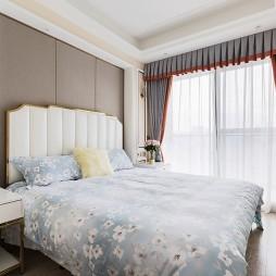 半糖暖居美式风卧室实景图片