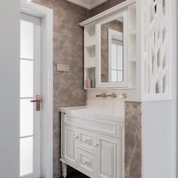 半糖暖居美式风卫浴洗手台设计