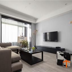 极简现代客厅背景墙设计