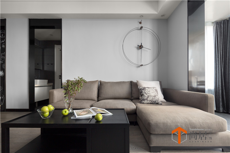 质朴125平现代三居客厅效果图欣赏客厅现代简约客厅设计图片赏析