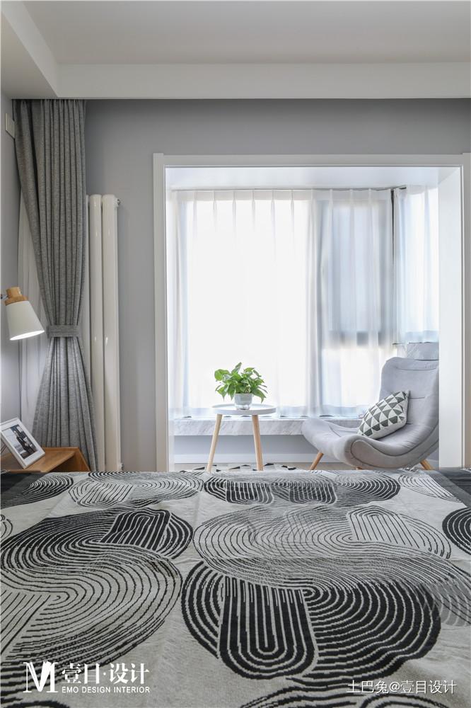 自由精致北欧风卧室阳台设计卧室北欧极简卧室设计图片赏析