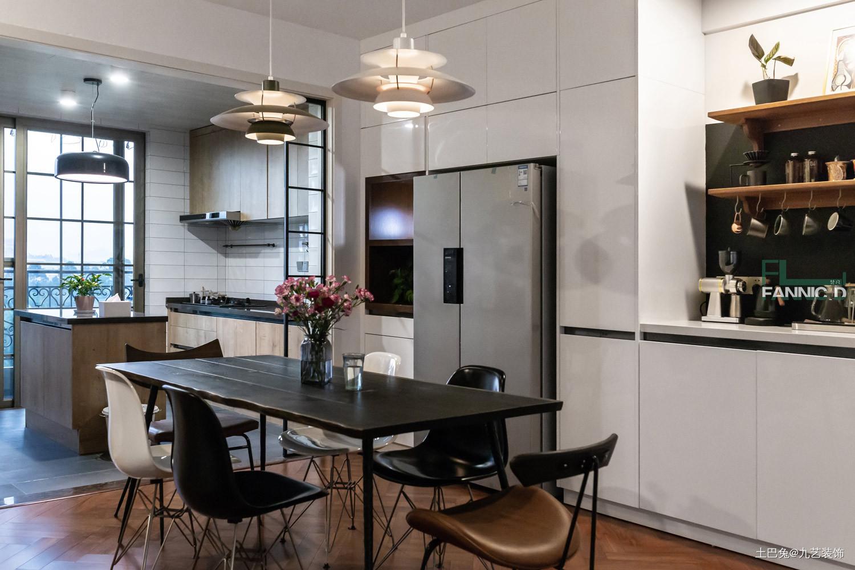 180平米北欧风三居餐厅设计厨房北欧极简餐厅设计图片赏析