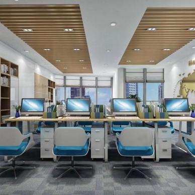 珠海中信南航1000平米科技感办公室_3566167