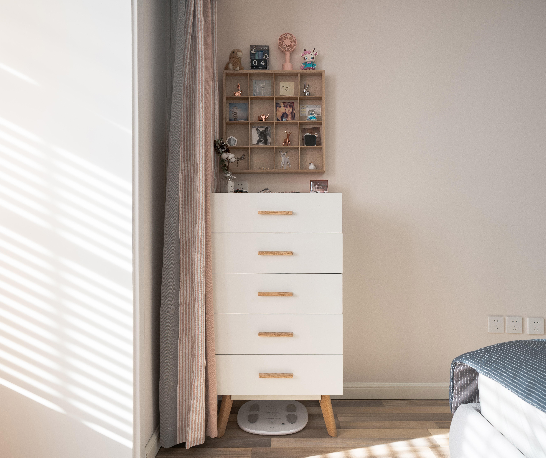 46平米小户型卧室置物架设计卧室潮流混搭卧室设计图片赏析