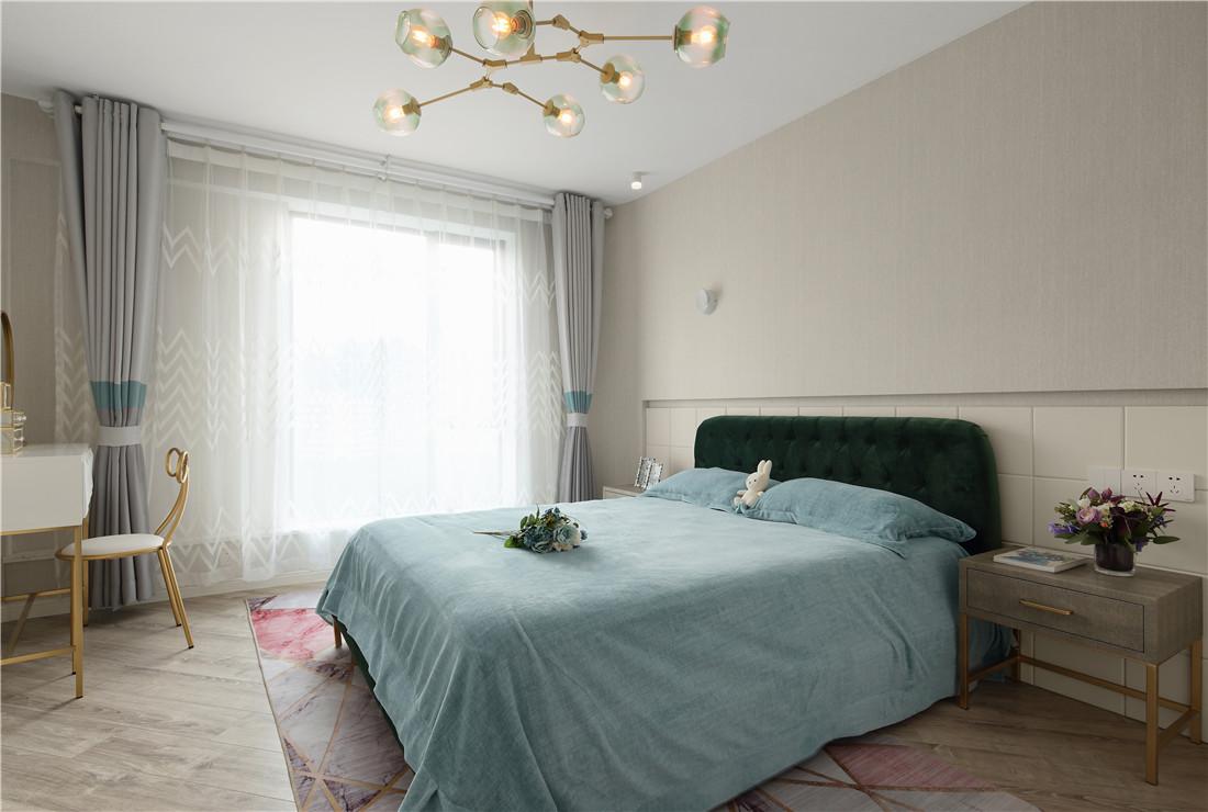 蒂芙尼蓝色现代风卧室设计图片卧室现代简约卧室设计图片赏析
