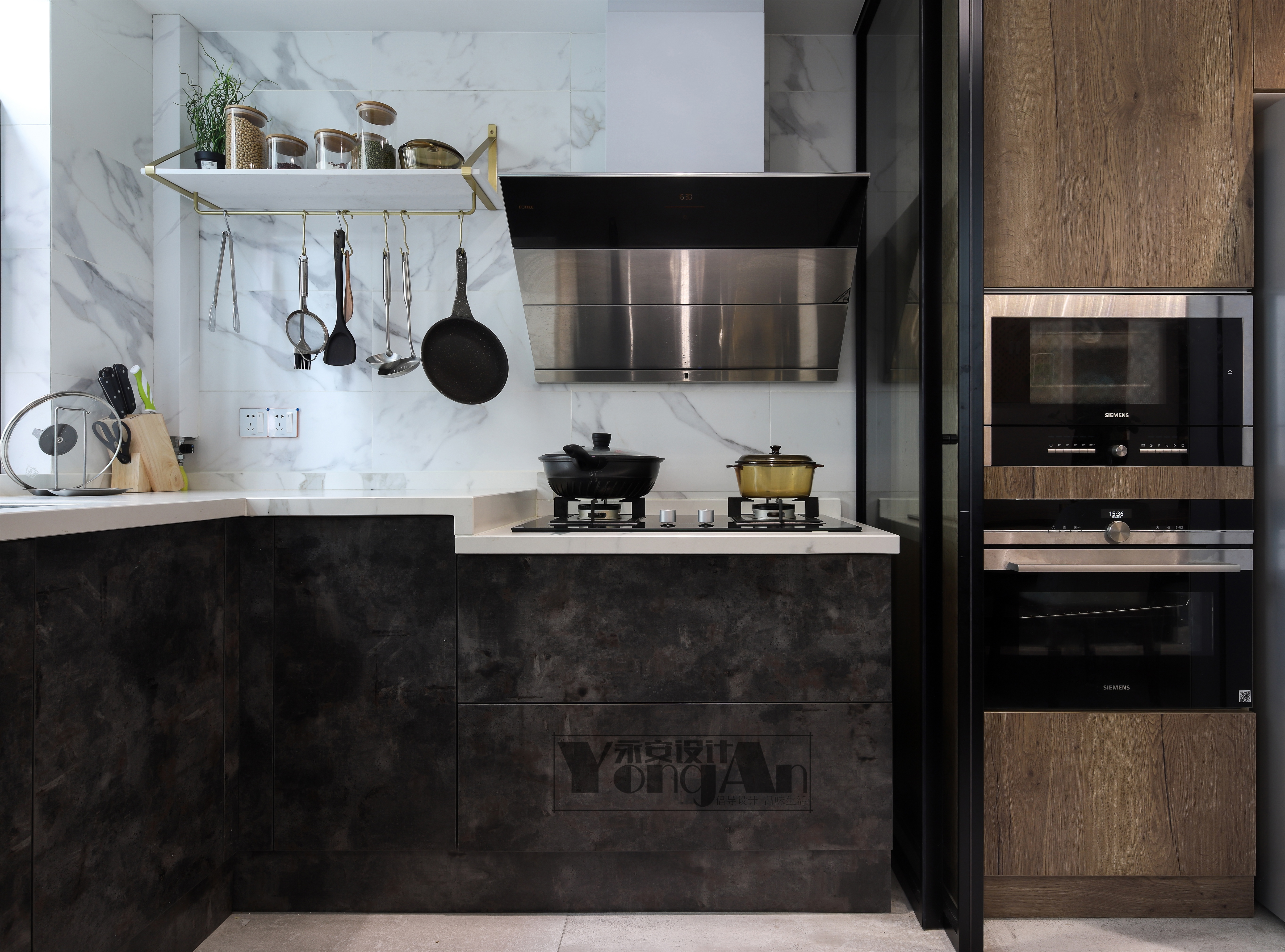 静谧现代风厨房设计图餐厅