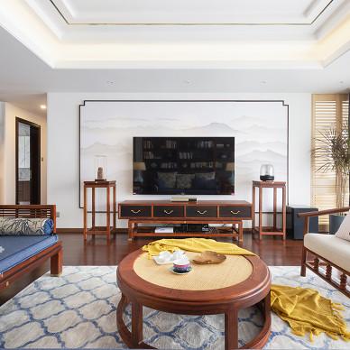 锦绣中式客厅背景墙设计图