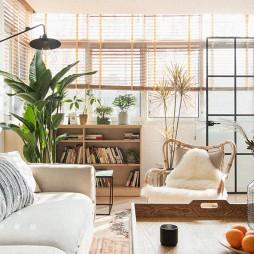 75㎡自然混搭客厅实景图