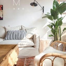 75㎡自然混搭客厅壁灯图片
