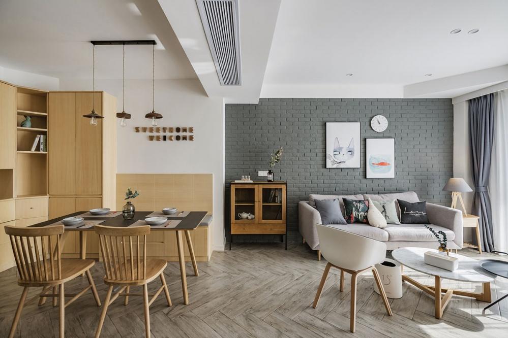 『SWEETHOME』北欧风客厅餐厅设计图客厅