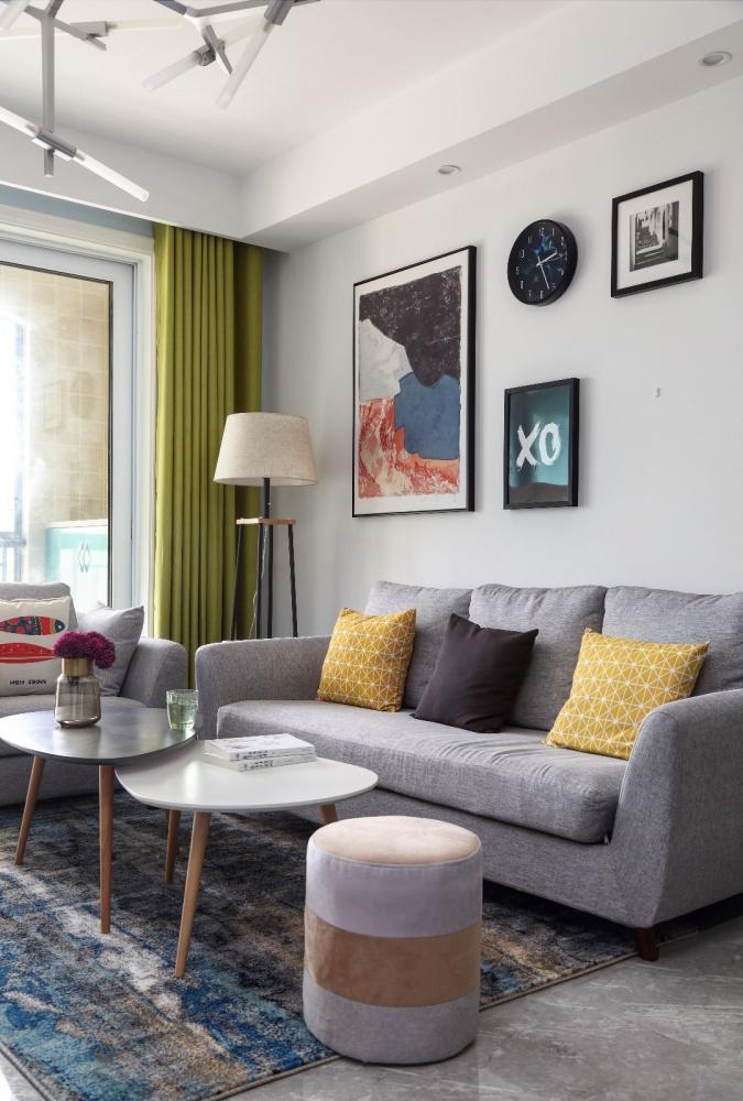 简爱简约客厅沙发背景墙设计客厅现代简约客厅设计图片赏析
