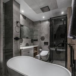 舒适混搭风卫浴设计实景图