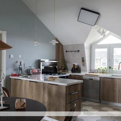 旧房改造混搭风厨房设计图