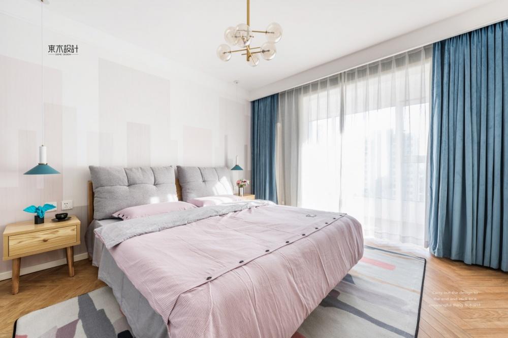 《稳稳的幸福》北欧风主卧室设计卧室北欧极简卧室设计图片赏析