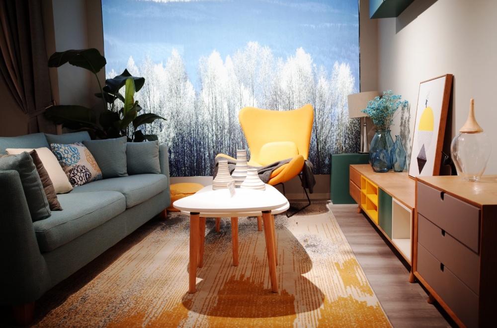 绵阳卡缇吉家居专营店软装完工图客厅北欧极简客厅设计图片赏析