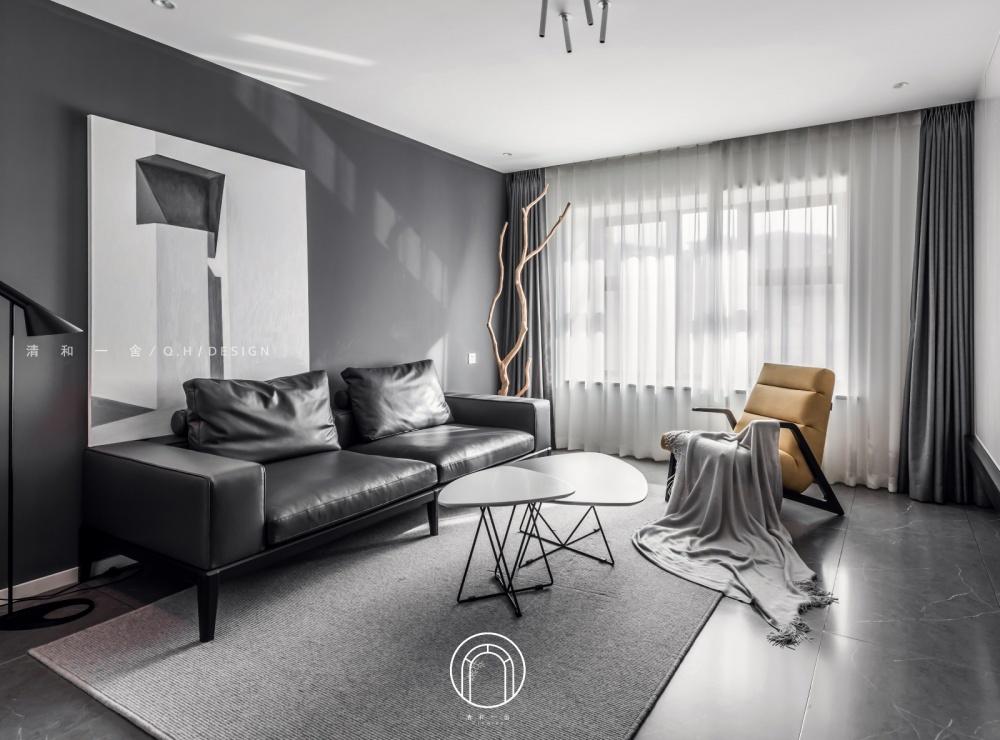 139㎡二居极简现代客厅图客厅3图现代简约客厅设计图片赏析