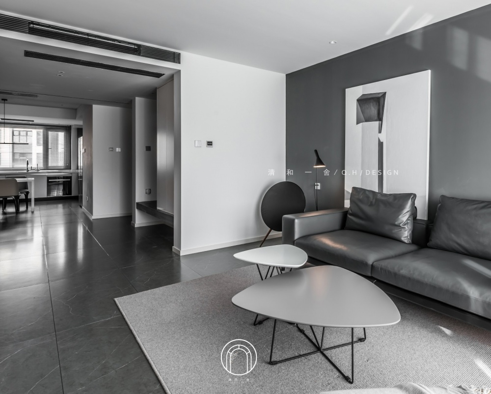 139㎡二居极简现代客厅沙发图客厅2图现代简约客厅设计图片赏析