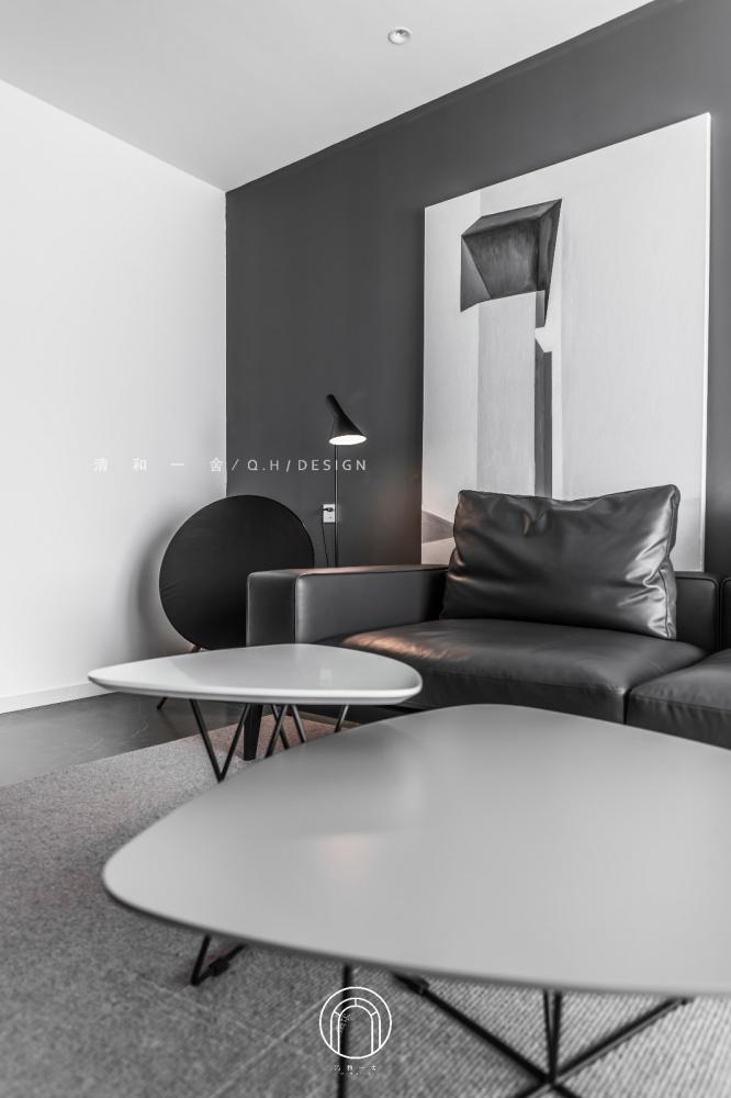 139㎡二居极简现代客厅设计客厅1图现代简约客厅设计图片赏析