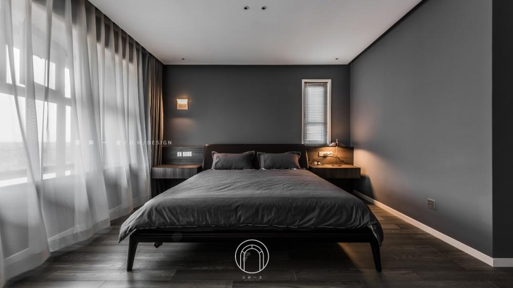 139㎡二居极简现代主卧设计卧室现代简约卧室设计图片赏析
