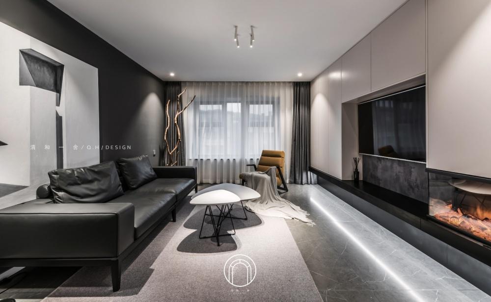 139㎡二居极简现代客厅实景图客厅4图现代简约客厅设计图片赏析