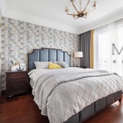 135㎡现代美式主卧室设计