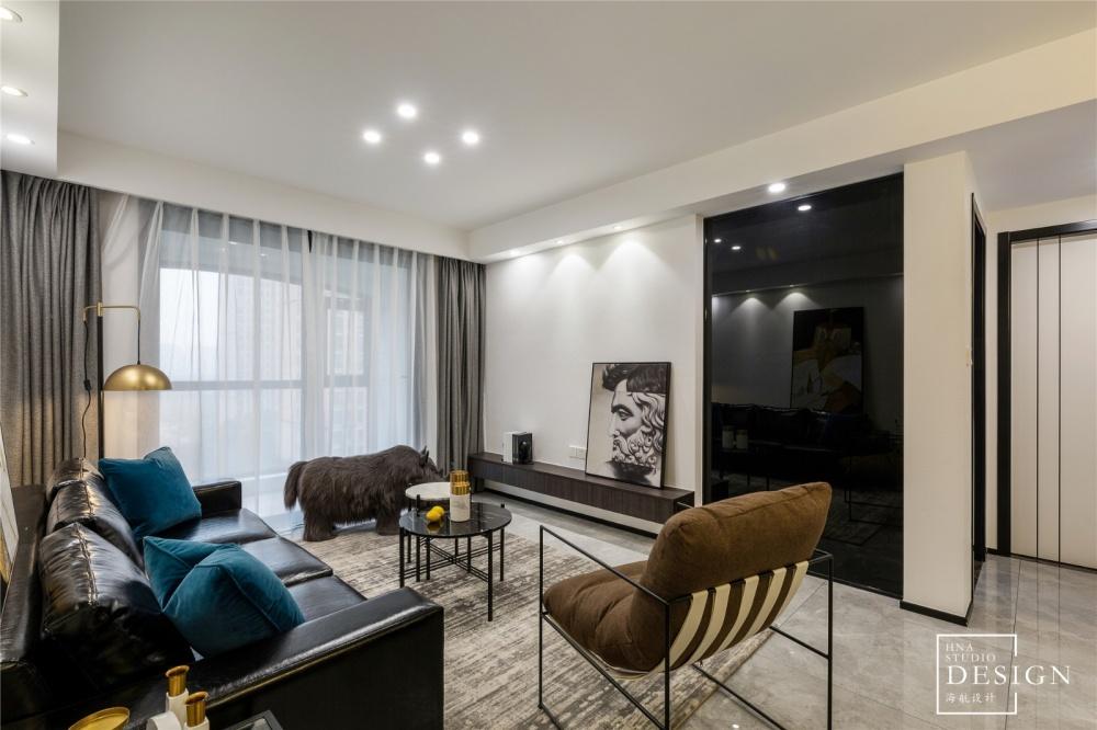 黑白简约风客厅装饰画实景图片客厅现代简约客厅设计图片赏析