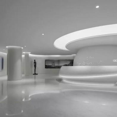 极简、艺术、智能未来的空间售楼处