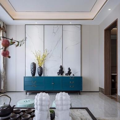 雅奢东方中式客厅无电?#39062;?#26223;墙设计